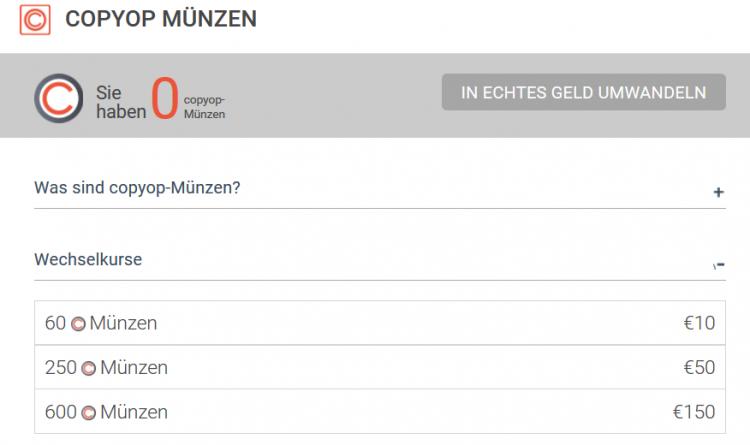 copyop credits auf deutsch