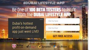 Dubai Lifestyle App Homepage