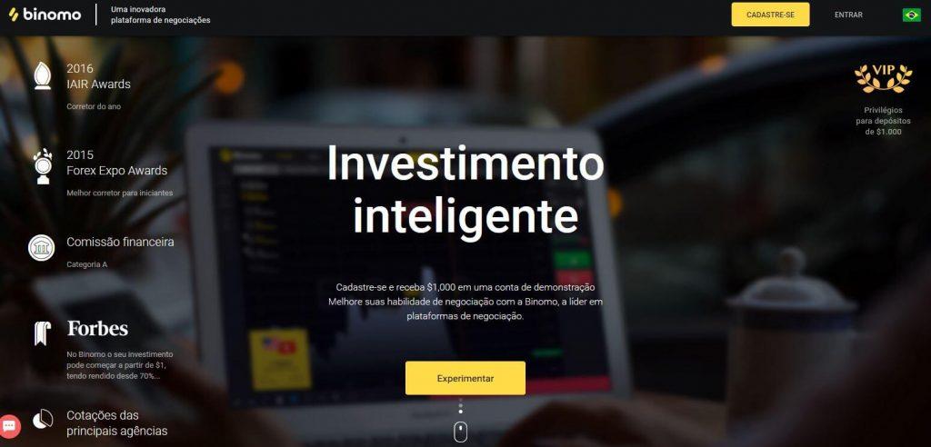 binomo homepage