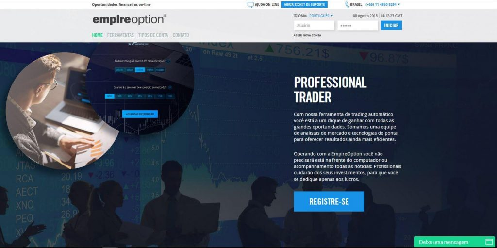 empire option homepage