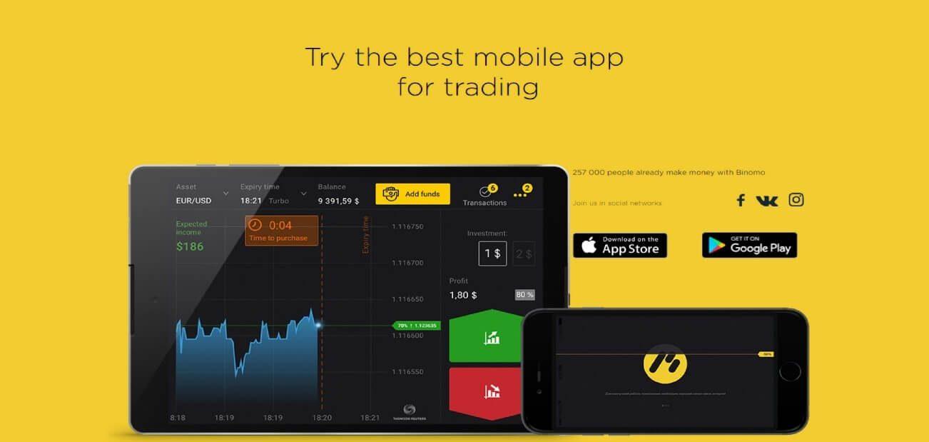 binomo mobile app