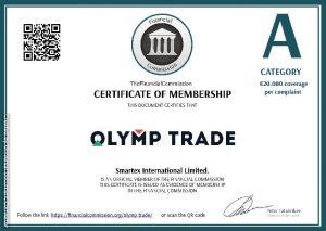 olymp trade finacom certificate