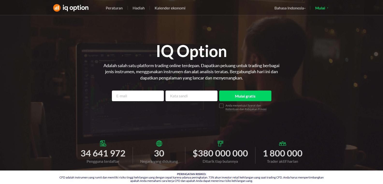 IQ option indonesia homepage