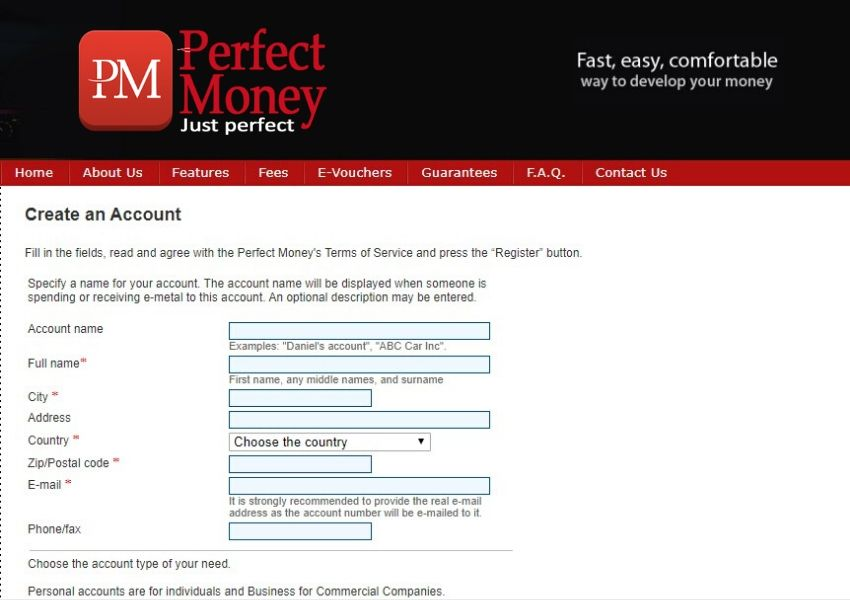 Open a Perfect Money Account from India