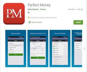 Aplicativo Móvel Perfect Money