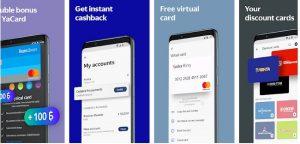 Aplicativo móvel do Yandex Money