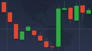 Use a opção de candlestick para obter mais precisão nas colunas do gráfico