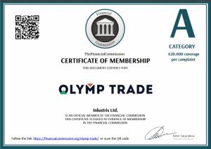 Chứng nhận Olymp Trade