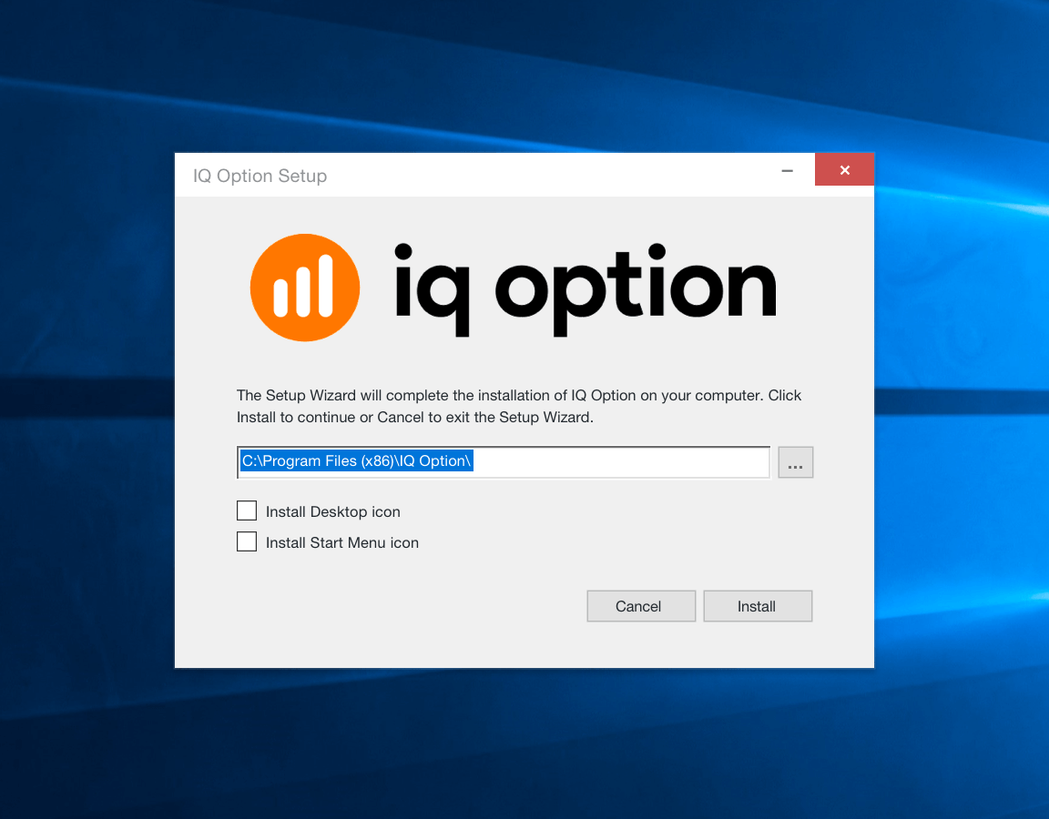 Download IQ Option untuk Windows