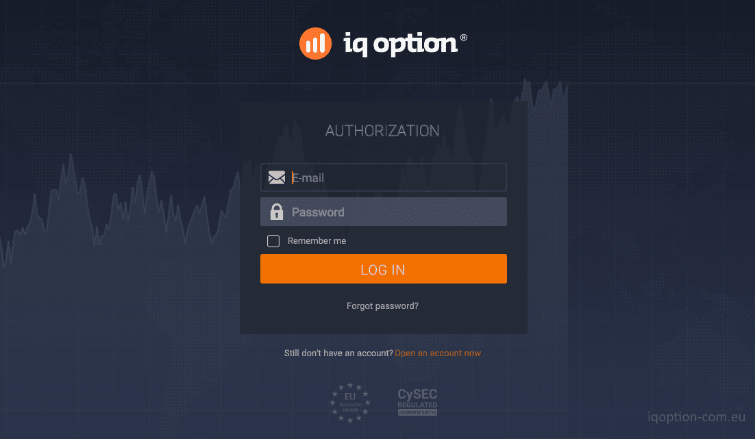 Login IQ Option di PC dan Smartphone