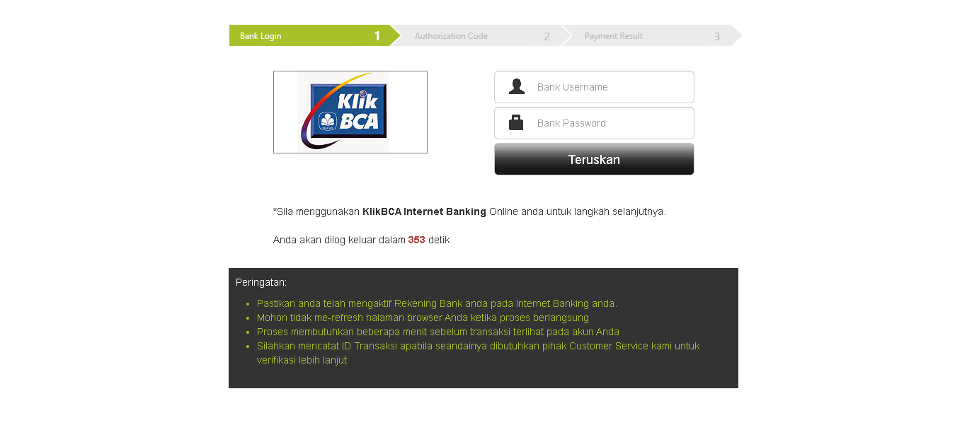 deposit binomo dengan klik bca ou klikbca