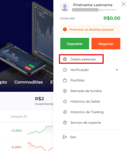 como Excluir Conta na IQ Option